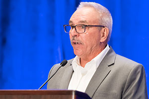 Scott Sindelar, chief executive officer of Edgewise Trade Advisers and a former USDA FAS official spoke at Day two of the meeting. Photo courtesy of USGC.